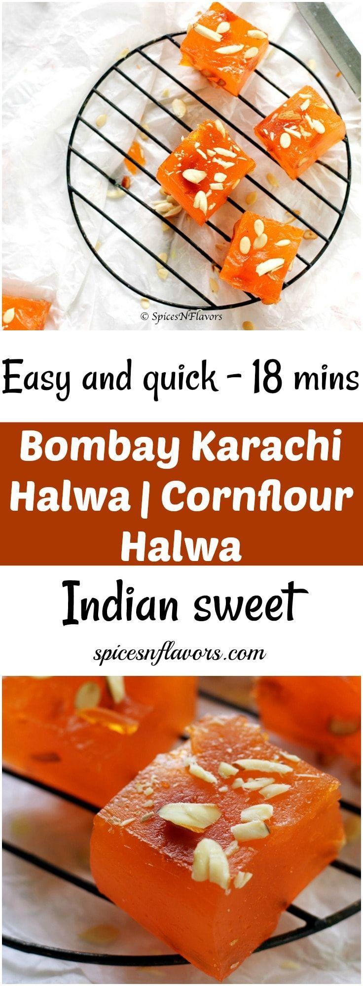 Easy quick indian sweet diwali recipe indian sweets microwave halwa cornflour halwa no cook halwa