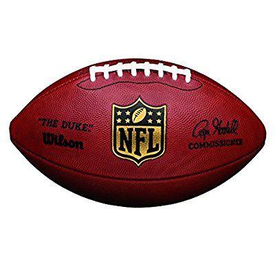 """Wilson Ballon Football Américain, Compétition, Ballon Officiel de la NFL, Taille Officielle, NFL """"DUKE"""" GAME LEATHER FOOTBALL, Brun, WTF1100"""