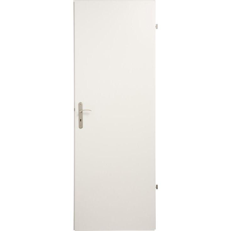 Porte seule home pleine poussant droit 204 x 93 cm for Porte accordeon leroy merlin