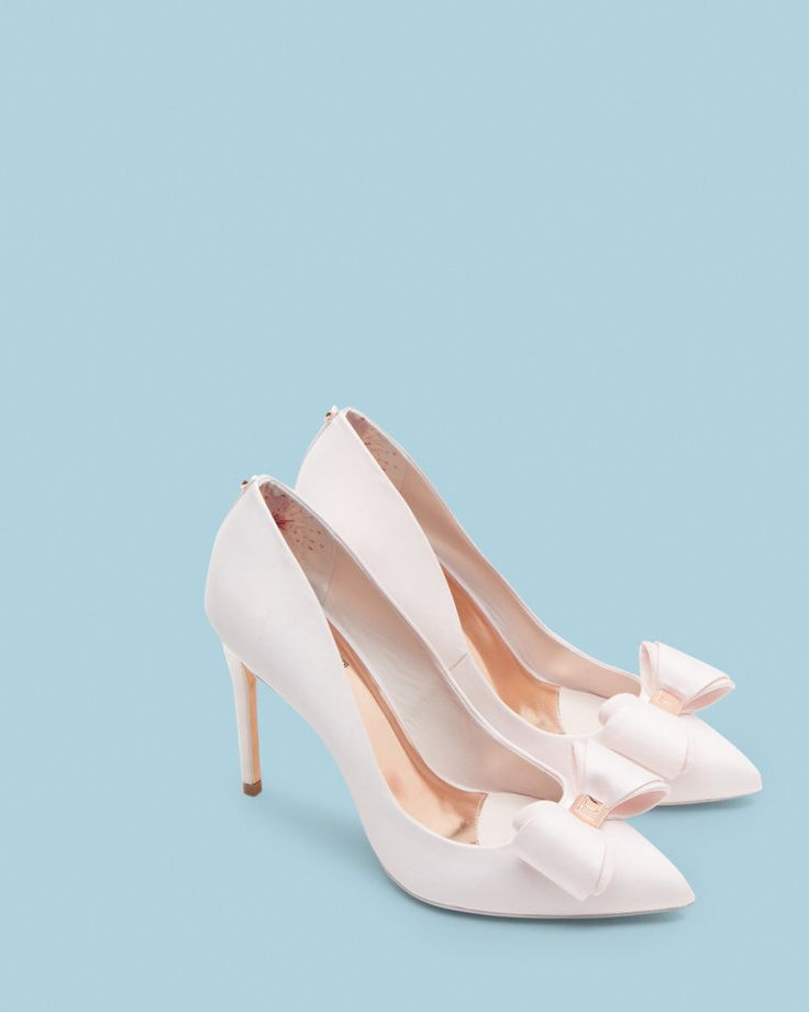 Bow detail satin courts - Baby Pink | Shoes | Ted Baker AU