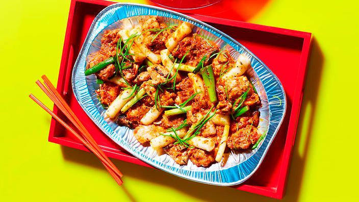 Stir-fired spicy chicken
