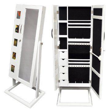 Espejo joyero con compartimentos para la bisuter a y marco for Espejo joyero casa