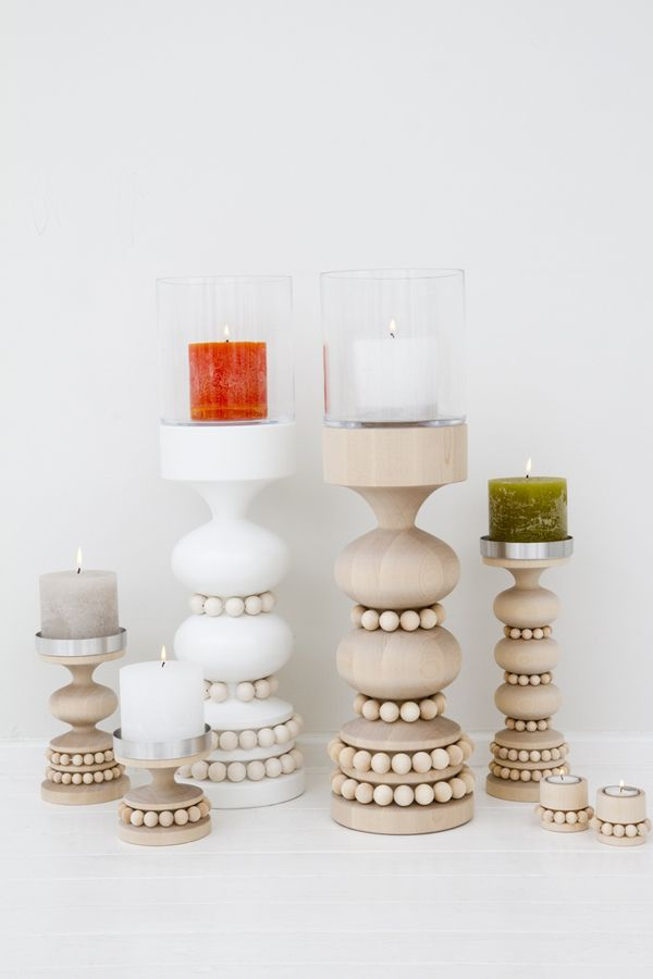 WOODEN TABLES & CANDLE HOLDERS BY AARIKKA OY - style-files.com