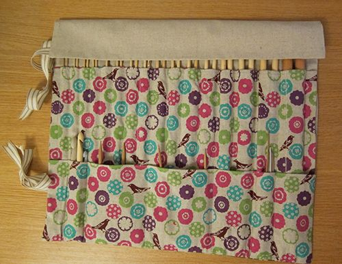 Perfect for knitting needles, crochet hooks, pencils, paint brushes...