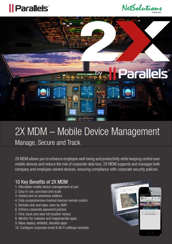 PT. #Netsolutions Infonet #Parallels Mobile Device Management Manage, Secure and Track