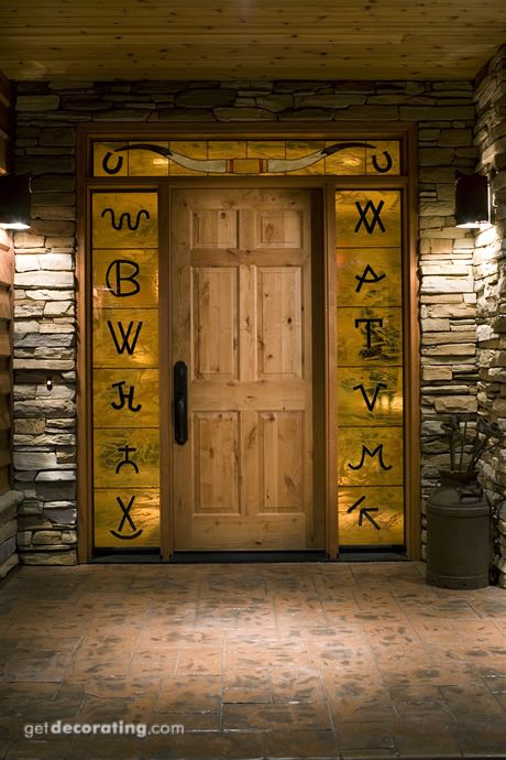 front door w/ brands (maybe without the weird metallic brass background?)