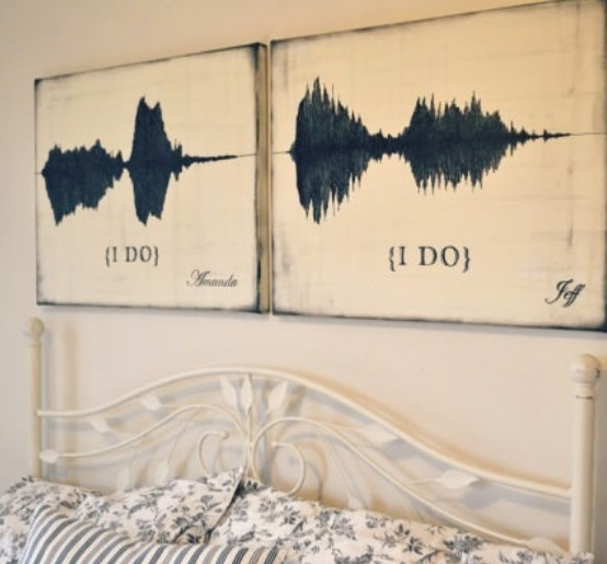 "him and her sound waves of the couple saying ""I do"" gotta have"