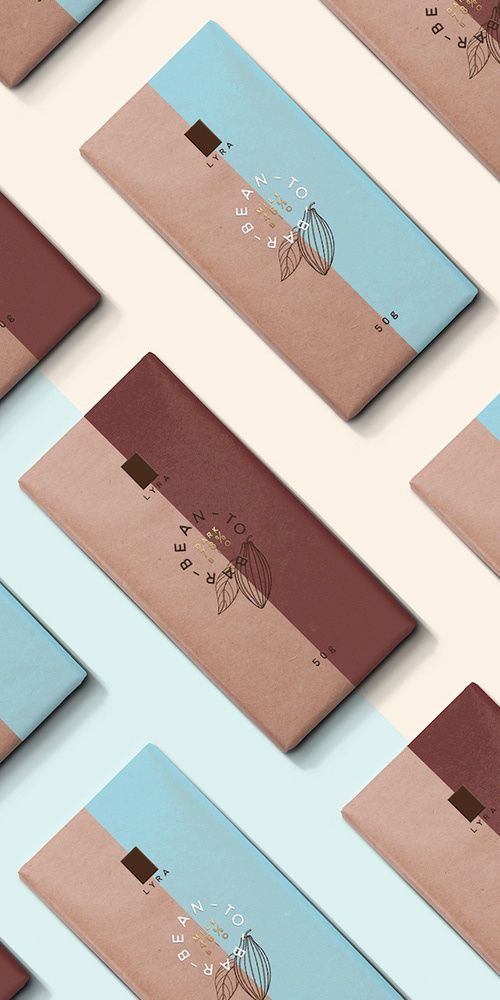 """LYRA - hen this Slovakian bean-to-bar chocolate company launched a premium line of bars, they enlisted the help of designer Michal Slovák to create a design that was as """"simple, playful and extraordinary"""" as the chocolate itself."""
