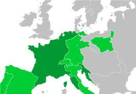 Het Franse Keizerrijk in 1811