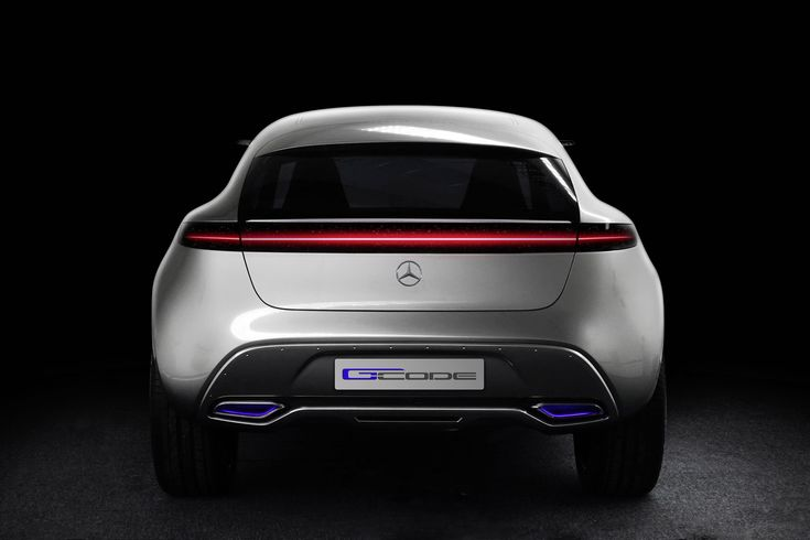 Mercedes-Benz Vision G-Code Concept -  At the rear, an LED light strip across the entire width provides a stage for the G‑Code with various illuminations for turn indicators, tail lights, and brake lights. - #mbhess #mbcars #mbconcept
