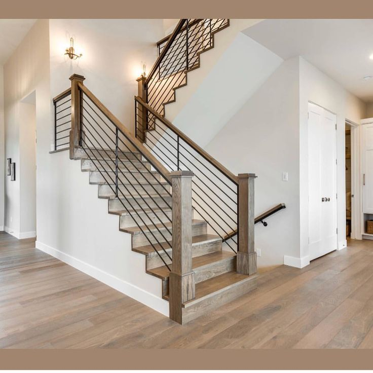 40 Trending Modern Staircase Design Ideas And Stair Handrails: Home, Farmhouse Stairs