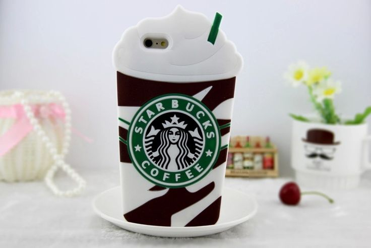 """New 3D Ice Cream Starbuck Silicone Case For Huawei P8 lite P8 mini 5"""" Soft Back Cover"""