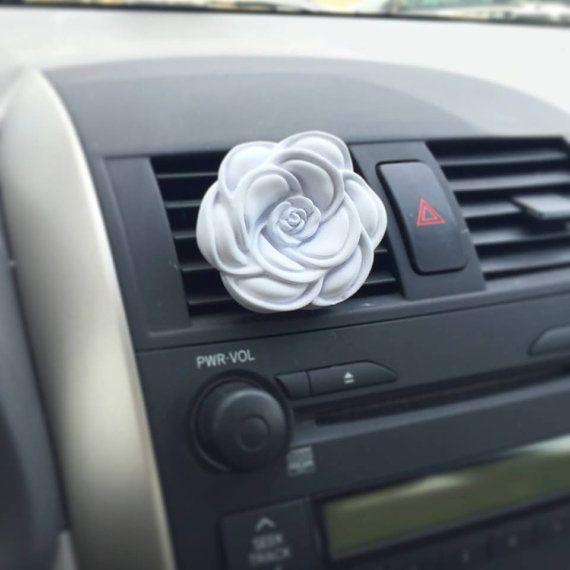 Rose Car Clip Plaster Diffuser Handmade Favor by maisondefleur