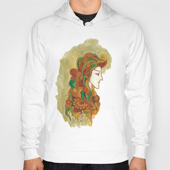 Tri-Blend Zip-up Hoody made with 50% Polyester, 42% Cotton and 8% Rayon. Ultra-soft, with a heathered look. This garment is double-sided with soft French Terry lining and a Cotton/Poly/Rayon Fleece shell.  #artnouveau #embellishment