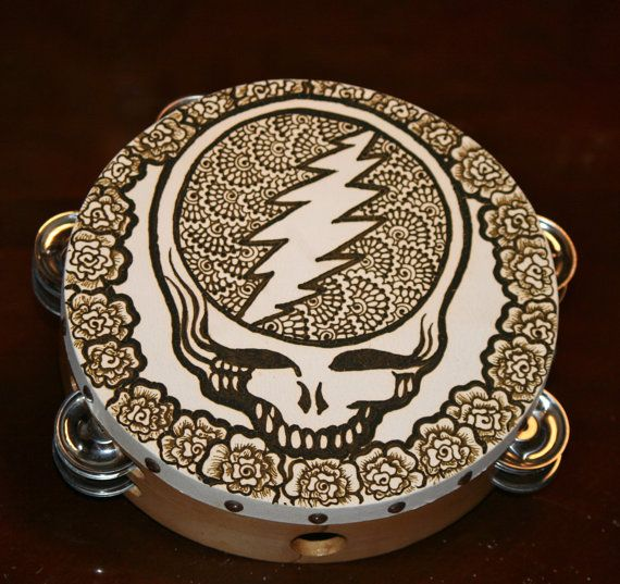 Grateful Dead Steal Your Face Henna Tambourine by RedwoodHenna
