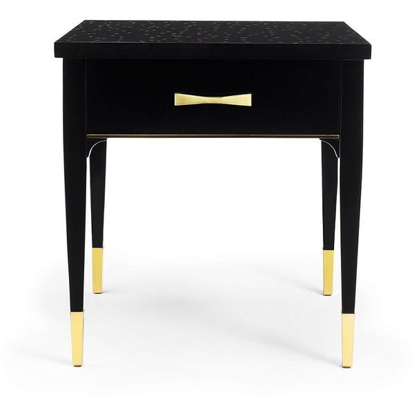 Kate Spade Calypso End Table found on Polyvore featuring home, furniture, tables, accent tables, kate spade and polka dot table