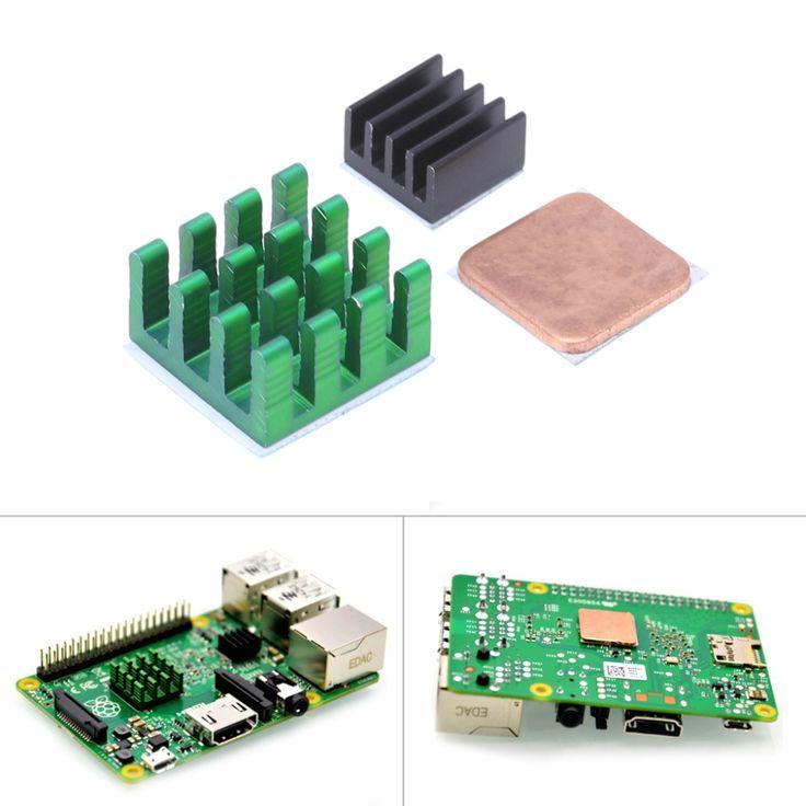 Raspberry Pi 3 Model B Aluminum Heat Sink + Bracket Raspberry Pi RPI Sink Cooling CPU Copper Heat Sink 2