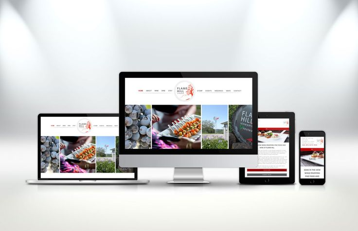 A modern, easy to use #website that highlights the beauty of the wine, food and land. http://fig.cr/flame