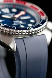 Curved End Rubber Strap for Seiko Turtle Series (CB08), Navy
