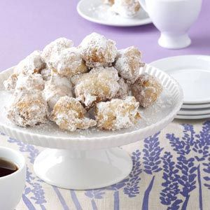 """Drop Doughnuts - """"For 30 years, I've been using leftover mashed potatoes to make these light and fluffy doughnuts. The recipe was originally created by my neighbor's mother-in-law. The doughnuts are great for breakfast or as a snack anytime."""" -Marilyn Kleinfall. I bet these are really moist and yummy!"""
