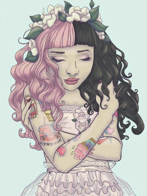 Imagem de melanie martinez, flowers, and pink