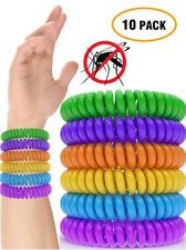 Natural Mosquito Repellent Bracelet Bug Insect Protection Deet-Free 10 Pack