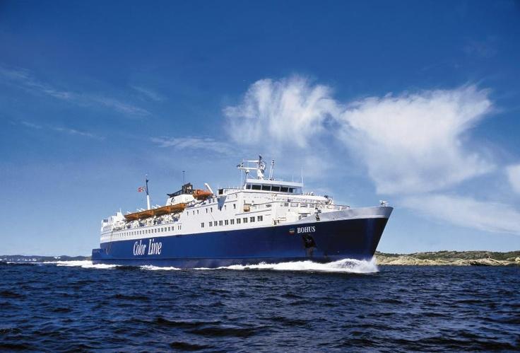 Unsere Autofähre Bohus verkehrt gemeinsam mit Color Viking 6x täglich von Strömstad nach Sandefjord