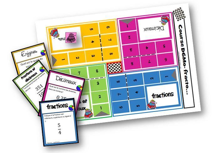 Course D6Mo fracto : jeu pour travailler sur les fractions et les décimaux - La classe de Mallory