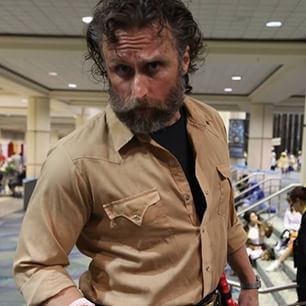 This insane Rick Grimes look-alike from The Walking Dead. | 39 Costumes From Megacon That Will Blow Your Mind