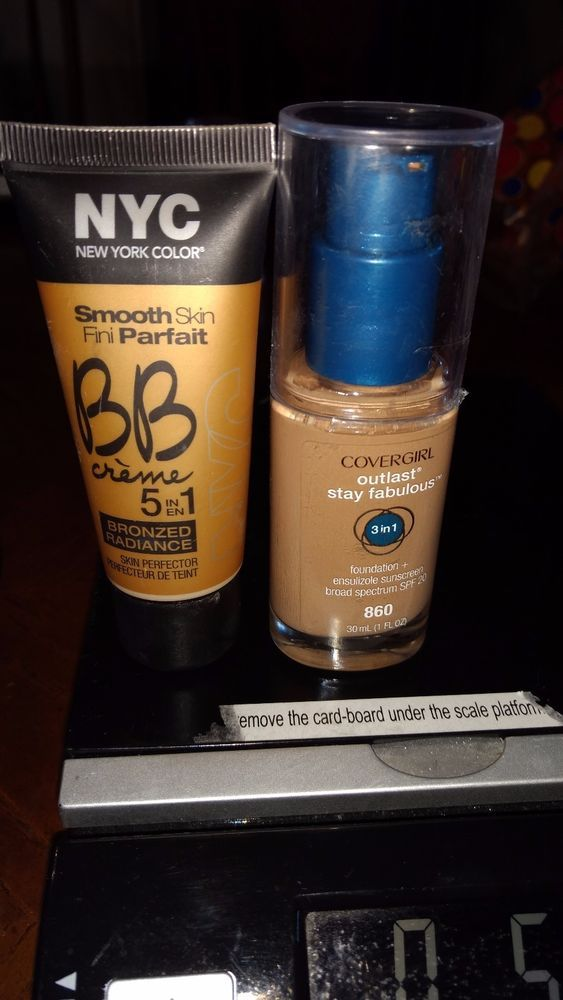 "BB CREME BRONZER FOUNDATION 5 in 1 ""Bronnzed Radiance"" Lot with Covergirl 3 in 1 #bbCremewithextrafoundation"