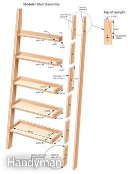 Leaning ladder shelf dimensions