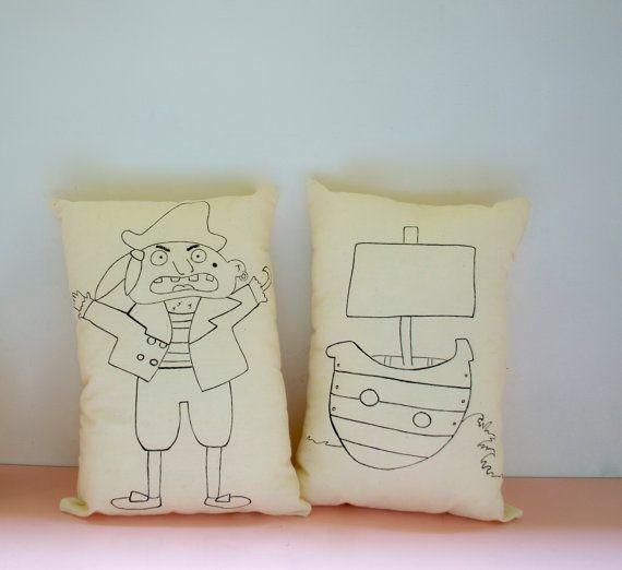 Oltre 25 fantastiche idee su bambini pirata su pinterest for Cuscini dipinti
