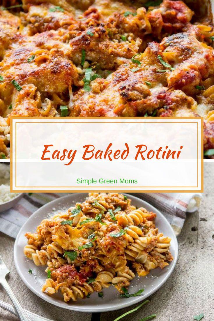 Easy Baked Rotini Pasta Recipe #dinnerideas #delicious #comfortfood #easydinner #dinner #yummy #simple #groundbeefrecipes #groundbeef #recipeideas #recipe #recipeoftheweek via @simplegreenmoms