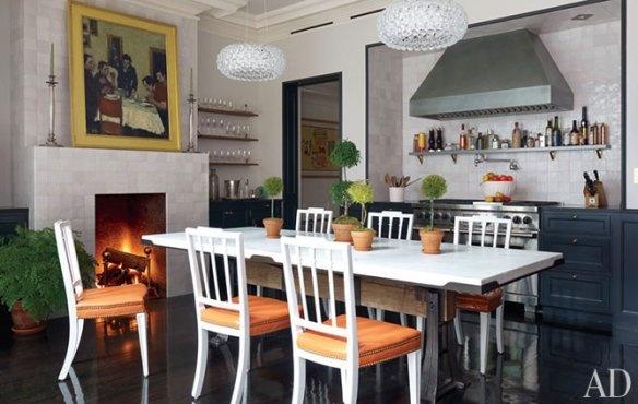 Kitchen of Brooke Shields Architectural Digest