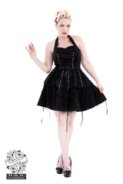 Black Laces Dress By Hearts and Roses - 6420