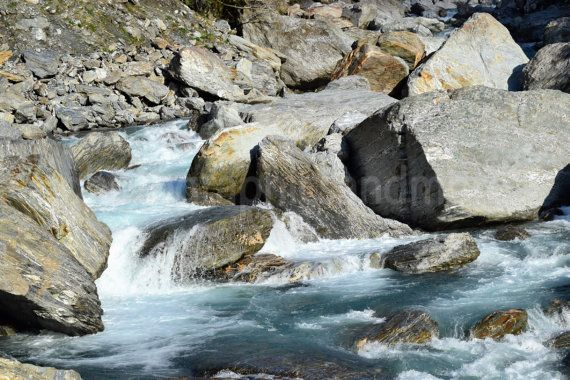 Water Flowing Stream Rocks Waterfall Rocky by photographicsandmore