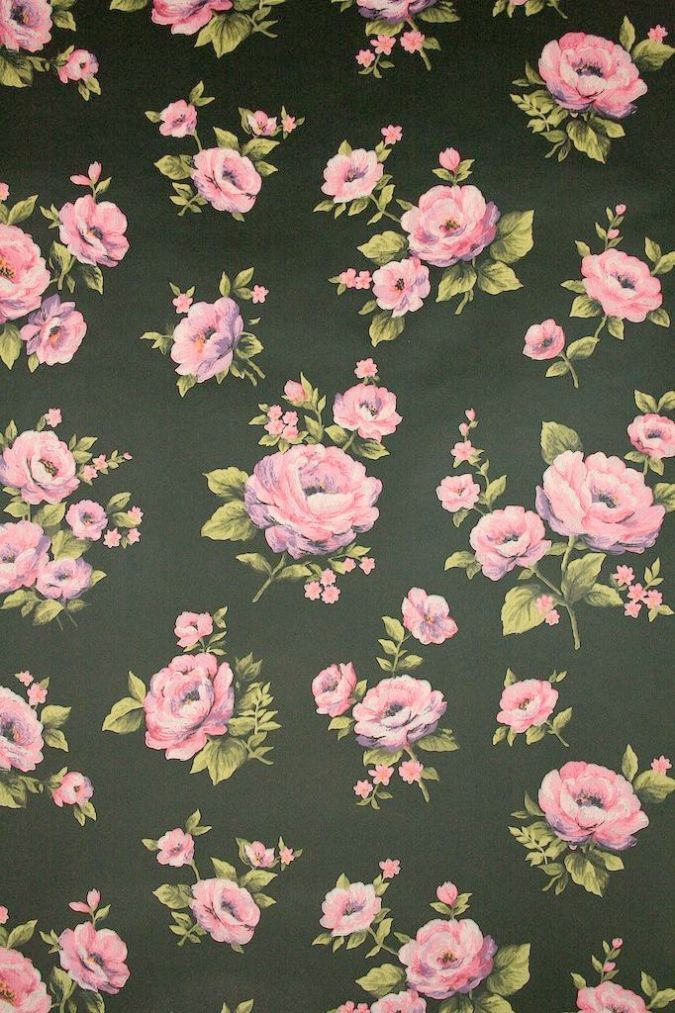 Floral Wallpapersblooming Wall Mh1404 Non Woven Vintage Flower