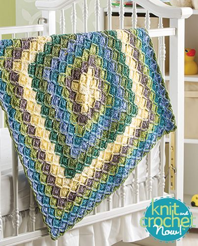 Free Bavarian Baby Blanket Crochet Pattern Download -- Designed by Jenny King. Featured in Season 5, episode 504, of Knit and Crochet Now! TV. Download here: https://www.anniescatalog.com/knitandcrochetnow/patterns/detail.html?pattern_id=17
