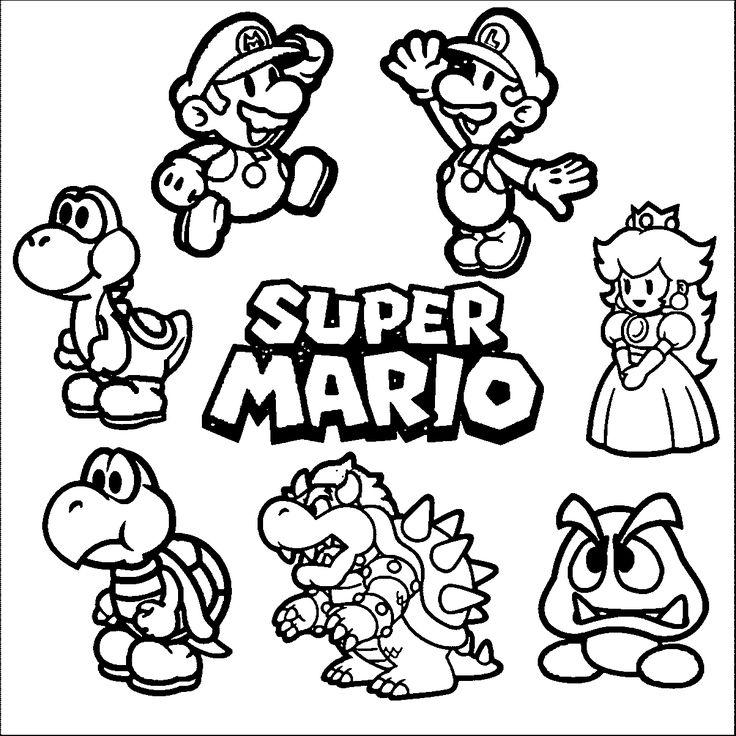 Image Result For Mario Coloring Pages Coloriage Mario Coloriage Livre De Couleur