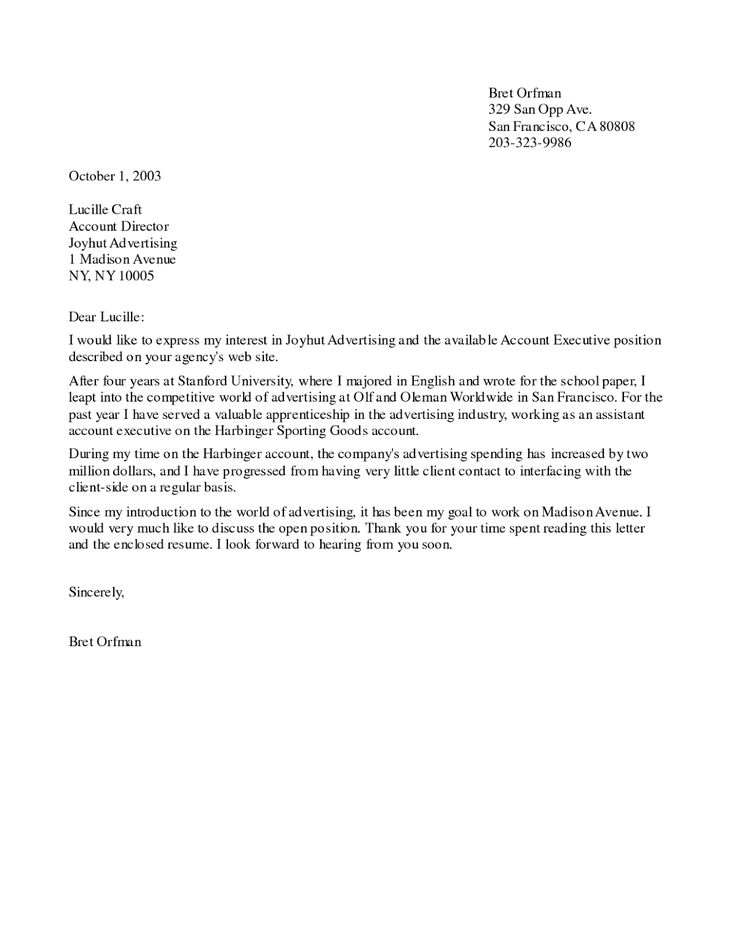 cover letter job posting