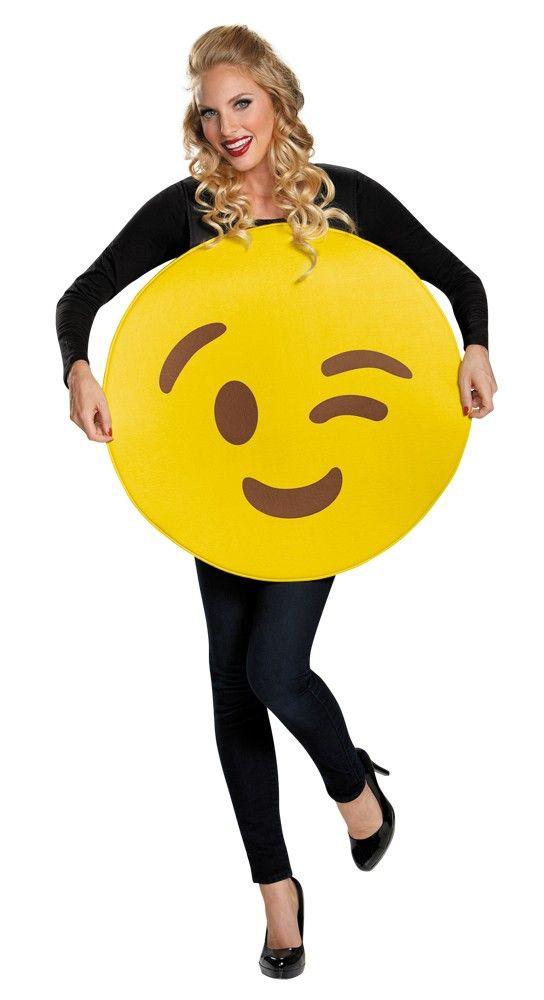 Wink Emoticon Emoji Adult Costume