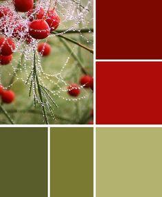 Elegante verde olivo en distintos tonos con algunos toques de color ocre y rojo…