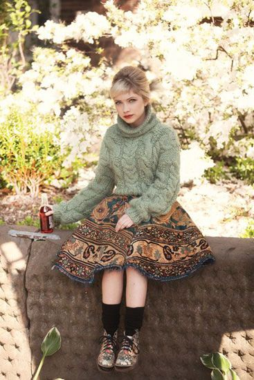 Tavi Gevinson in Bust wearing the same Docs my 4 year old rocks!