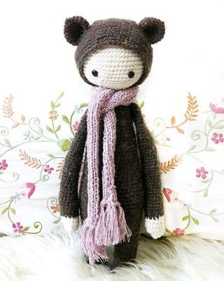 Bina - the bear; Adorable crochet patterns for the sweetest dolls!