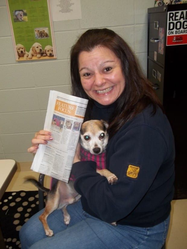 After Bailey, a little Chihuahua mix, went missing for two months, his owner opened a newspaper and found him featured as the shelter's pet of the month! Just another reason to own a newspaper subscription, folks.