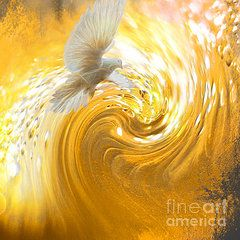 Prophetic Art Featured Images - Holy Spirit Come  by Beverly Guilliams