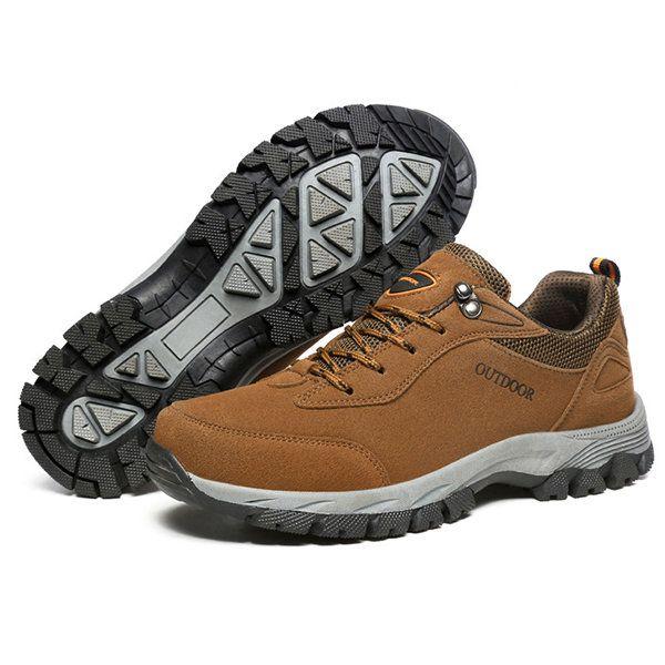 Les Hommes En Daim Chaussures De Randonnée En Plein Air Résistant À L'usure RllSOSEQhX