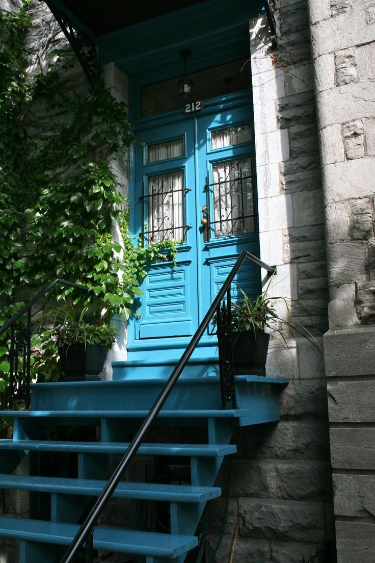 """Blue Door."" Rue Roy E, Montreal, QC. Photo by Kayla Hedman"