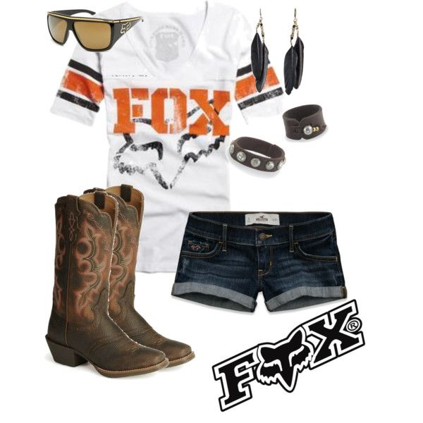 Fox Racing by rinergirl, via Polyvore