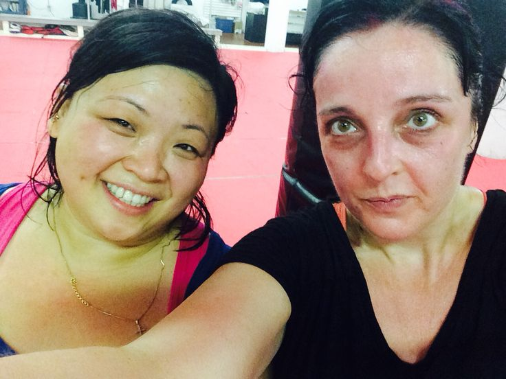 Post work out ! One hour kickboxing